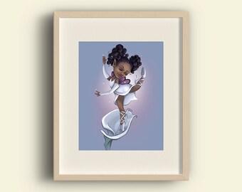 Calla Lily Fine Art Print   Plants & Pixies digital painting • print various sizes premium paper • garden flower floral fairy sprite faery
