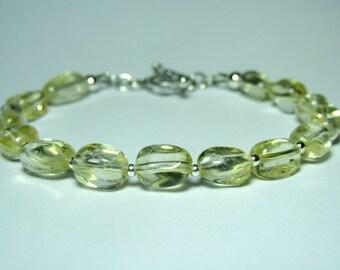 Sterling Silver Citrine Bracelet, Ladies Gemstone Bracelet, Womens Jewelry, Womens Gift, Birthstone Jewelry, Birthday Gift