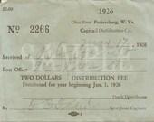 1926 Ohio River Bootlegger Dock Receipt Printable Smuggler Prohibition Era Roaring 20s Style Art Deco Gatsby Party Wedding Bar Front Door