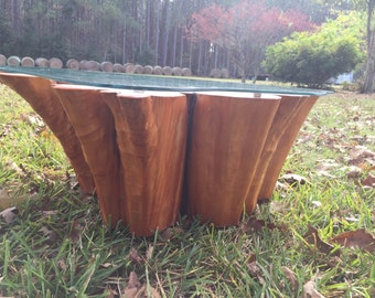 Glass Stump Table Etsy - Cypress stump coffee table