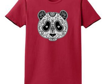 Panda Mask Ladies Port and Co. Printed T Shirt SM to XL and 2XL 3XL 4XL