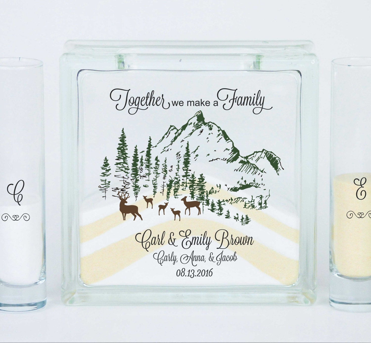 Blended Family Wedding Unity Sand Ceremony Set Unity Candle