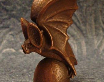 Sculpted Mini Bat (in Copper)