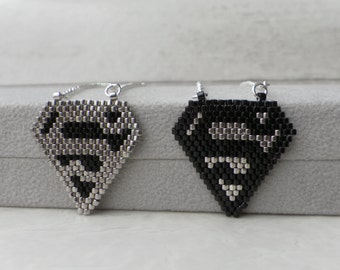 Superhero Jewelry, Comics jewelry, Superman Pendant, Silver Superman Necklace, Man Of Steel, Sterling Silver Man Necklace