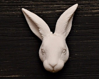 Rabbit Cameo Cabochon Animal Totem Polymer Clay Charm