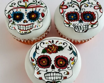 Edible Cake Decorations Skull : Edible skulls Etsy