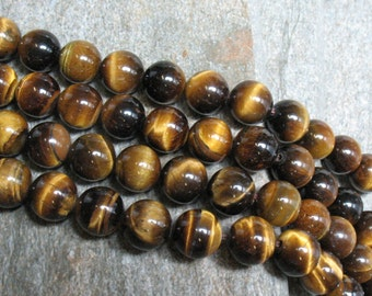 Tigereye Beads 10 mm Round - Item B0860