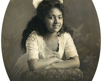 Salote Tupou III as a child, 1908, Photo Print