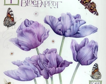 """Blue Parrot Tulips 