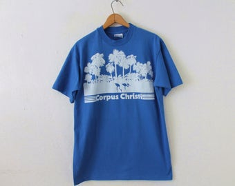 LARGE Vintage 1990s Corpus Christi Graphic T-Shirt