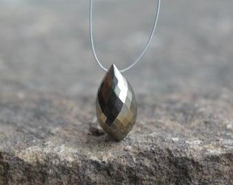 Pyrite Chandelier Briolette