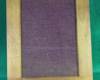 Vintage Century 5 X 7 Contact Print Frame with Original Purple Felt