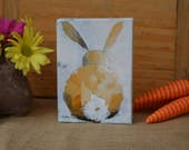 5x7 Yellow Bunny #2