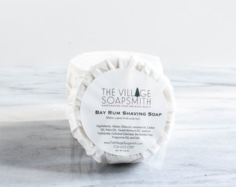 Bay Rum Old Fashioned Shaving Soap (all natural) - Natural Soap - Gift for Him - Wet Shaving - Shave Soap