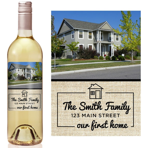 Housewarming gift personalized wine label personalized for Best wine for housewarming gift