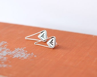 Stamped Sterling Silver Earrings