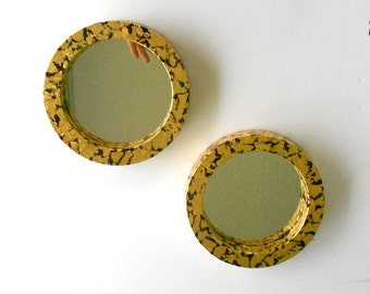 """7"""", Wall Mirrors,Decorative Wall Mirrors, Round Mirrors, Small Wall Mirrors, Gold Mirrors, Decorative Mirrors, Gold Frame Mirrors,Item GLOM5"""