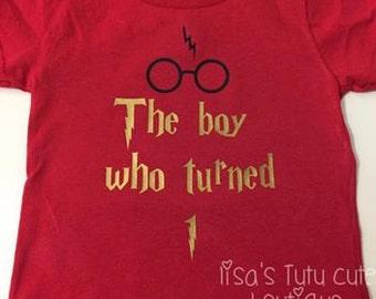 The boy who turned, harry potter birthday, harry potter birthday shirt, harry potter party, harry potter shirt,  harry potter first birthday
