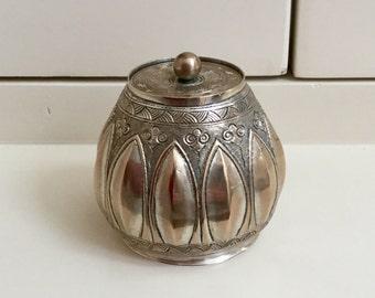 Vintage Silver plated lidded jar