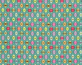 1/2 yard TABBY ROAD by Tula Pink for Free Spirit Cat Eyes-Strawberry Cooler