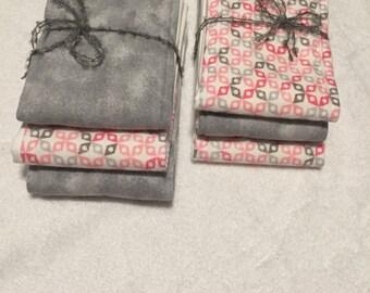 Handmade Burp cloths for babies.  Set of six.