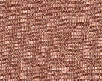Robert Kaufman Yarn Dyed Essex Metallic - Copper - Cotton Fabric