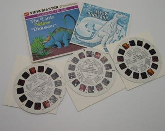 The Little Yellow Dinosaur 3 vintage GAF 1971 View Master reels B6051  52  53
