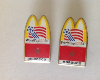 World Cup Pin 1994, World Cup Morocco Pin, World Cup McDonalds 94 Lapel Pin, Soccer World Cup Pin, Collectible Soccer Hat Pin, Soccer Pin