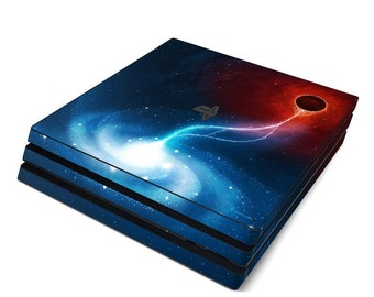 Sony PS4 Pro Skin Kit - Black Hole by Vlad Studio - Sticker Decal Wrap