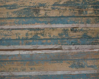 Antique Blue Chippy Paint Barn Wood Photography Backdrop, Real Wood Salvaged photo backdrop, commercial photography, food photography