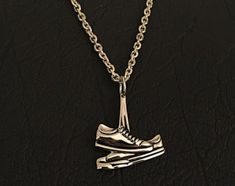 Sterling silver Bruce Springsteen Born To Run style sneakers pendant