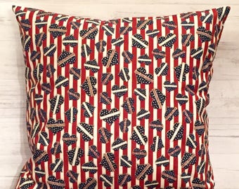 Fourth of July Decor - USA Pillow - Patriotic Pillow - Patriotic Home Decor - Memorial Day - 4th of July Pillow - Holiday Pillow