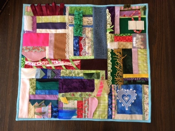 Touch the Heart Fidget Quilt / Sensory Blanket