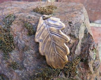 English, Sherwood Forest, Oak Leaf, Bronze Pendant, Robin Hood, Oak-leaf, Oak-Leaf, Pagan, Druid, Spiritual by the Green Man