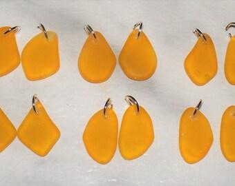 "Cultured Saffron ""Sea Glass""  Freeform Flat"