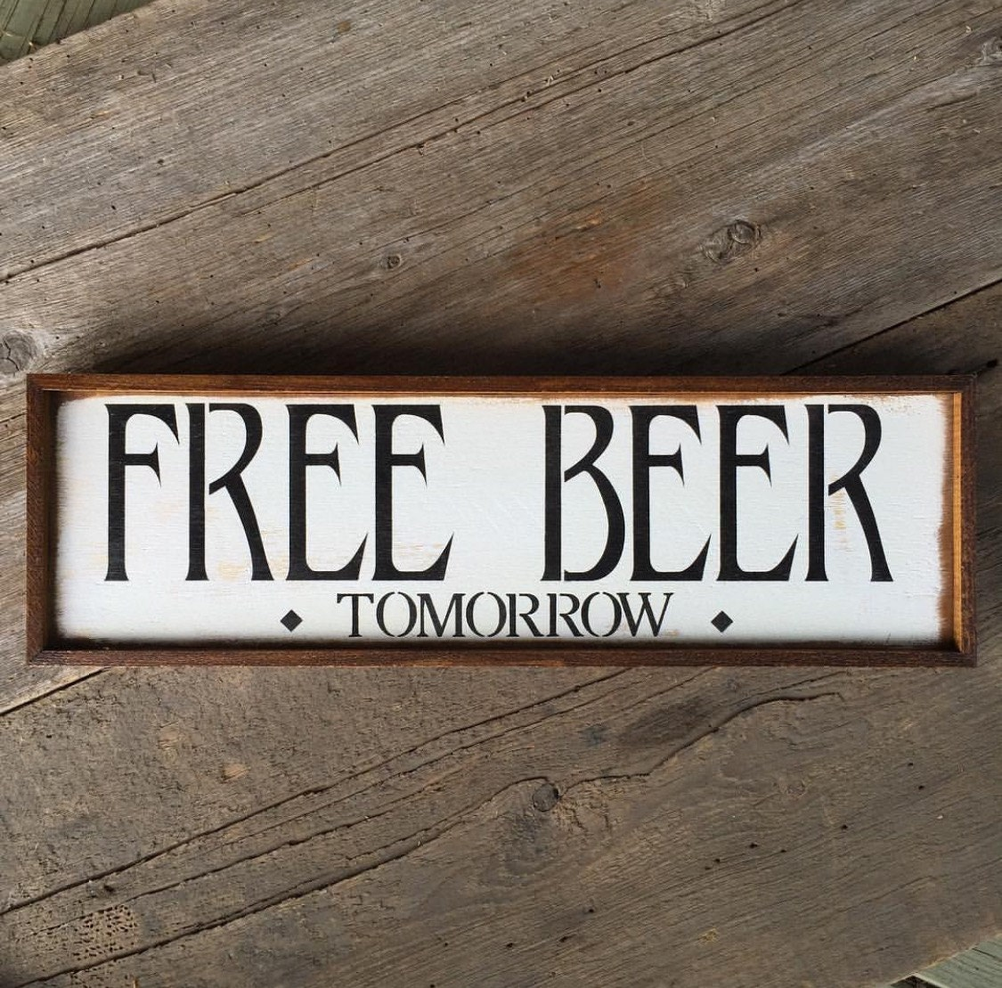 Free beer sign wall funny signs bar decor
