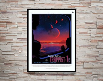 Reprint of the NASA/JPL SpaceX Trappist Poster