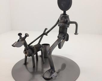 Metal Art - Dog Walker - Free US Shipping!