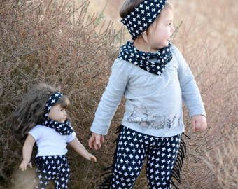 Matching Girl Doll Clothes Doll and Me Infinity Scarf Set American Made Girl Doll Infinity Scarf Matching Generation 18 Inch Doll Clothes