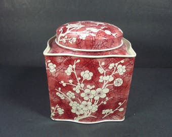 Vintage Daher Cherry Blossom Tea Tin Canister - Made in England
