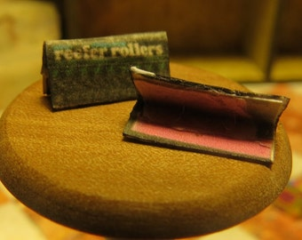 Pink Reefer Rollers Dollhouse Miniature Fancy Rolling Papers - Cigarette Papers - Paraphernalia Adult Collectible