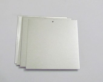 2 1/2 x 2 1/2 - square blanks - Calendar blanks - Easy to stamp on  -  keychain blanks - jewelry supplies - stamping blanks - 20G
