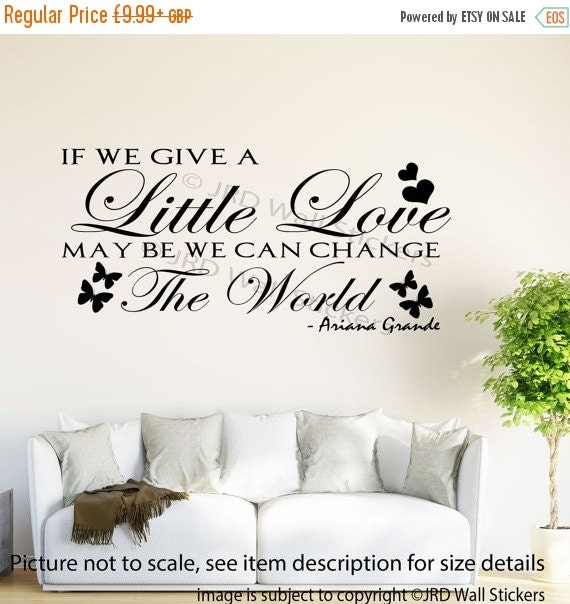 quote wall stickers if you give a little love celebrity love