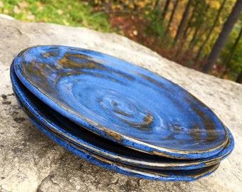 Small Cobalt Dessert Plate