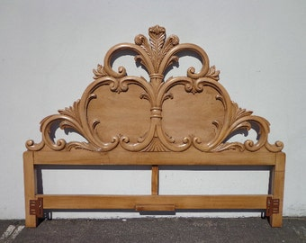 Headboard French Provincial Rococo King Size Bedroom Furniture Carved Wood Neoclassical Quality Hollywood Regency Glam CUSTOM & Carved headboard | Etsy pillowsntoast.com