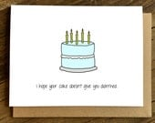 Funny Birthday Card - Birthday Card for Friend - Diarrhea.