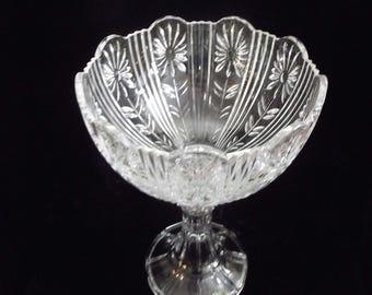 Shannon large lead crystal pedestal bowl, item # 60