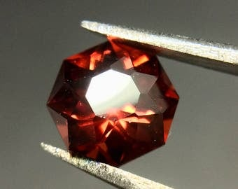 Idaho Garnet, Faceted Loose Gemstone, .91 CTW, January Birthstone, Fiery Red Garnet Gemstone, Alternative Engagement Stone