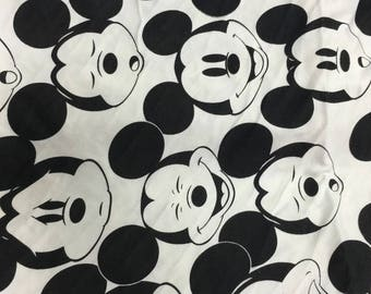 Pretty mickey in white pattern soft Cotton lycra 48*165 cm cotton knit 1/2 yard