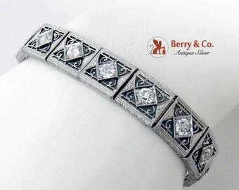 Edwardian Openwork Design Diamond Bracelet Platinum